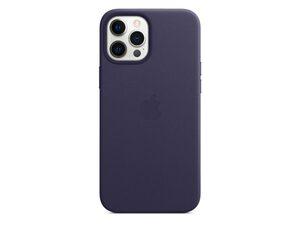 Apple iPhone Leder Case mit MagSafe, für iPhone 12 Pro Max, dunkelviolett
