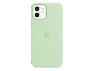 Apple iPhone Silikon Case mit MagSafe, für iPhone 12/12 Pro, pistazie