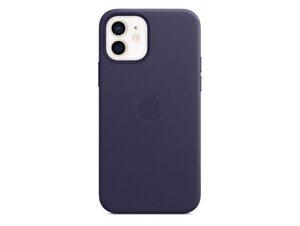 Apple iPhone Leder Case mit MagSafe, für iPhone 12/12 Pro, dunkelviolett