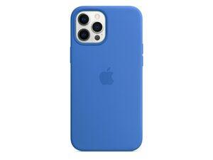 Apple iPhone Silikon Case mit MagSafe, für iPhone 12 Pro Max, capriblau