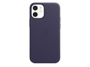 Apple iPhone Leder Case mit MagSafe, für iPhone 12 mini, dunkelviolett
