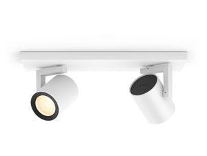 Philips Hue Argenta 2er Spot, White & Color Ambiance, für Hue Lichtsystem, weiß