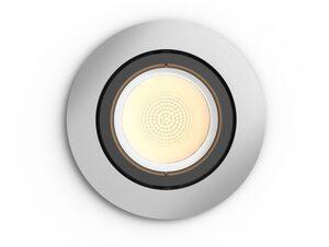 Philips Hue Centura Einbauspot, rund, für Hue Lichtsystem, aluminium