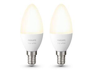 Philips Hue White, 2x E14, Glühlampe für Hue Lichtsystem, Bluetooth