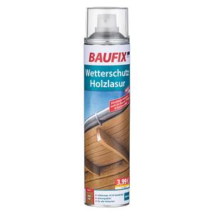 Baufix Wetterschutz Holzlasur Spray, Eiche Hell