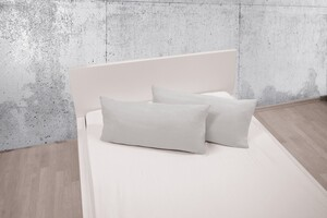 Dreamtex Bio-Jersey-Kissenbezüge, ca. 40 x 80 cm, Silber - 2er-Set