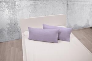 Dreamtex Bio-Jersey-Kissenbezüge, ca. 40 x 80 cm, Flieder - 2er-Set