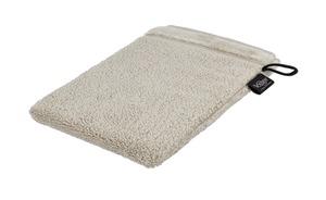 VOSSEN Waschhandschuh  Pure - grau - 100% Bio-Baumwolle - Heimtextilien