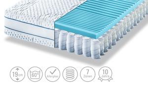 Möve Tonnentaschenfederkern-Matratze   Aqua Med T - weiß - Matratzen & Lattenroste