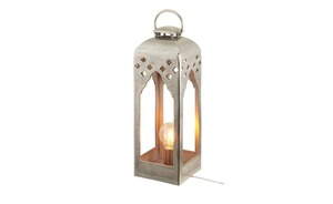 Fischer-Honsel Laterne, 1-flammig, nickel antik ´groß` - silber - Lampen & Leuchten