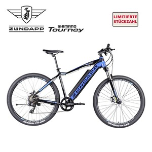 Alu-Elektro-Mountainbike Z801 27,5er • Fahrunterstützung bis ca. 25 km/h, 5 Unterstützungsstufen • Li-Ionen-Akku 36 V/10,4 Ah, 418 Wh • Reichweite bis ca. 100 km (je nach Fahrweise) • w