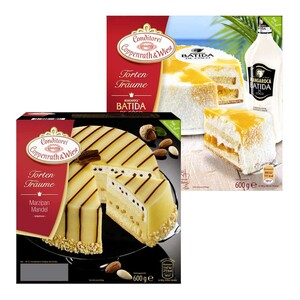 Coppenrath & Wiese Torten-Träume Marzipan-Mandel oder Batida de Coco Passion gefroren, jede 600-g-Packung und weitere Sorten