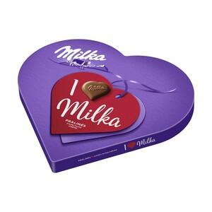 I love Milka Geschenkherz Alles Gute oder Kleines Dankeschön jede 165-g-Packung