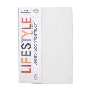 Jersey-Spannbettlaken - weiß - 100x200 cm
