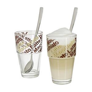 LEONARDO Kaffeeglas 4-Teilig, Mehrfarbig