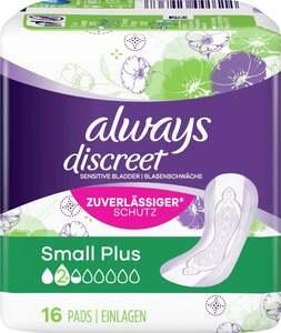 Always              discreet Binden small plus
