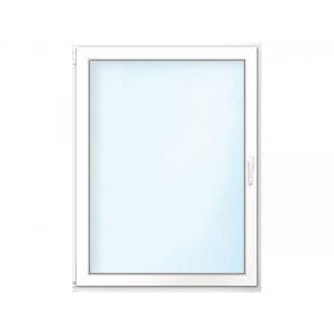 Fenster PVC 70/3 weiß/weiß Anschlag links 100x120 cm