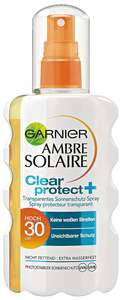 Garnier Ambre Solaire              Clear protect+ transparentes Sonnenschutz-Spray
