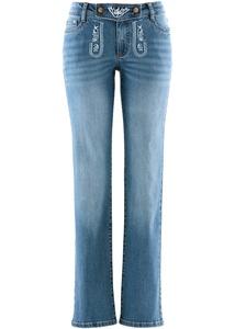 Trachten-Jeans, straight, mit Stickerei