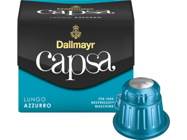 DALLMAYR Lungo Azzuro, Kaffeekapseln, 10 Kapseln
