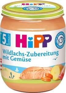 HiPP              Menü Wildlachs-Zubereitung mit Gemüse, fein püriert