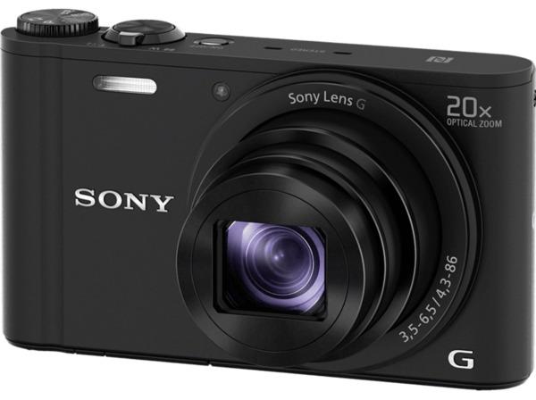 SONY DSC-WX 350 B.CE3 Kompaktkamera, 18.2 Megapixel, 20x opt. Zoom, Full HD, Exmor R CMOS Sensor, Near Field Communication, WLAN, 25-500 mm Brennweite, Autofokus, Bildstabilisator, Schwarz