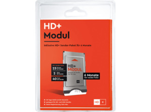 HDPLUS Z8086 CI+ Modul für HD+ inkl. HD+ Smartcard für 6 Monate HD+ Programme, Schwarz/Silber