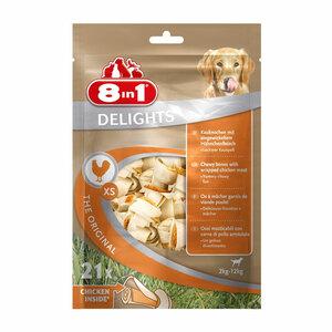8in1 Delights Kauknochen Hähnchenfleisch im Beutel
