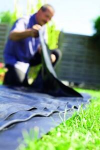Heissner PVC-Teichfolie schwarz 1 mm, 4 m breit