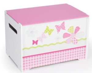 Spielzeug Truhe Schmetterling Patchwork rosa