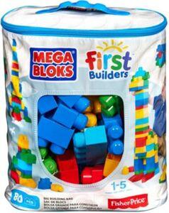 Mega Bloks First Builders Bausteinebeutel groß, 80 Teile
