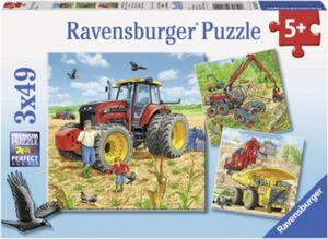 Puzzleset 3 X 49 Teile Große Maschinen