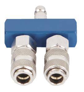 Druckluftverteiler Schnellanschlusskupplungen - 2-fach Scheppach