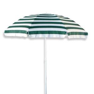 Gardiola Sonnenschirm - grün-weiß - Knickfunktion