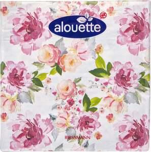 alouette alouette Serviette Motiv Blumen
