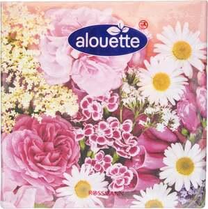 alouette alouette Serviette Motiv Blumenstrauß
