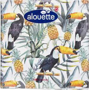 alouette alouette Serviette Tropisch/Tukan