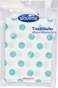 alouette alouette Tischläufer Punkte-Motiv blau