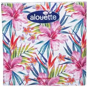 alouette alouette Serviette tropische Blumen