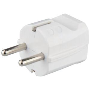 Schutzkontakt Stecker Kunststoff, IP20, weiß