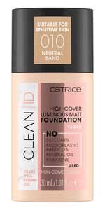 Catrice Clean ID High Cover Luminous Matt Foundation 010