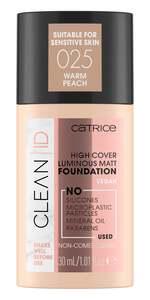 Catrice Clean ID High Cover Luminous Matt Foundation 025
