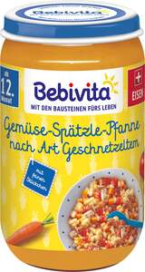 Bebivita Bio Gemüse-Spätzle-Pfanne nach Art Geschnetzeltem