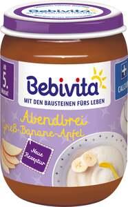 Bebivita Bio Abendrei Grieß-Banane-Apfel