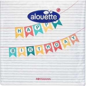 alouette Serviette Happy Birthday