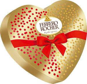 Ferrero Rocher Schoko-Nuss-Spezialität Herzbox