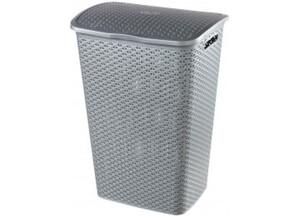 Curver Wäschebox 55l silber