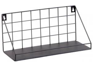 Metallregal schwarz, ca. 30 x 14 x 12 cm