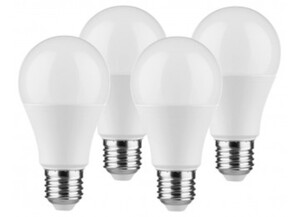LED-Normallampe 400255 4er-Pack E27 9 Watt