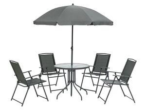 FLORABEST Sitzgruppe, 6-teilig, mit Tisch und Schirm